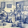 Azulejo Portuguese Bakers Tile Mural Poster by Julia Sweda