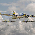 B17 486th Bomb Group Print by Pat Speirs