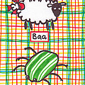 Baa Humbug Print by Julie  Hutchinson