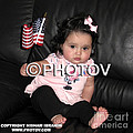 Baby girl with an American flag and voting sticker - Limited Edition Print by Hisham Ibrahim
