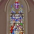 Baby Jesus Stained Glass Window Poster by Susan Candelario