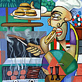 Backyard Chef Print by Anthony Falbo