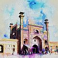 Badshahi Mosque Gate Print by Catf