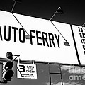 Balboa Island Ferry Sign Black and White Picture Poster by Paul Velgos