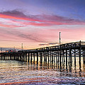 Balboa Pier Sunset Poster by Kelley King