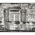 Balcony View in Black and White Print by Brenda Bryant
