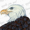 Bald Eagle -- Proud to be an American Poster by Sherry Goeben