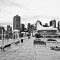 balentien pier canada place and Vancouver waterfront skyline BC Canada Print by Joe Fox