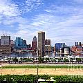 Baltimore Inner Harbor Beach Print by Olivier Le Queinec