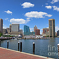 Baltimore Inner Harbor Print by Olivier Le Queinec