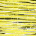 Bamboo Fence - Yellow and Gray Print by Saya Studios