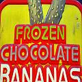 BANANAS Print by Skip Willits