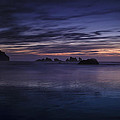 Bandon Beach at Twilight Poster by Andrew Soundarajan