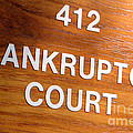 Bankruptcy Court Print by Olivier Le Queinec