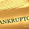 Bankruptcy Notice Poster by Olivier Le Queinec