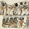 Banquet Scene. Ca. 1350 Bc. 18th Poster by Everett
