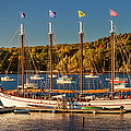 Bar Harbor Schooner Print by Brian Jannsen