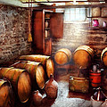 Bar - Wine - The Wine Cellar  Poster by Mike Savad