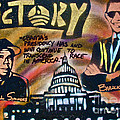 Barack and Russell Simmons Print by TONY B CONSCIOUS