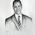 Barack Obama 2 Print by Michael Morgan