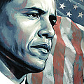 Barack Obama Artwork 2 B Print by Sheraz A