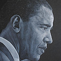 Barack Obama Print by David Dunne