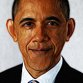 Barack Obama Print by Digital Reproductions