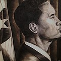 Barack Obama Print by Larry Silver