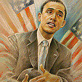 Barack Obama Taking it Easy Poster by Miki De Goodaboom