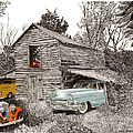Barn Find 1956 Cadillac and Ford P U  Poster by Jack Pumphrey