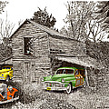 Barn Finds classic cars Print by Jack Pumphrey