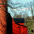 BARN SHADOWS Poster by KAREN WILES