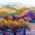 Barn Vineyard Poster by Carolyn Jarvis