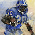 Barry Sanders Print by Michael  Pattison
