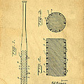 Baseball Bat Patent Print by Edward Fielding