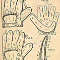 Baseball Glove Patent 1910 Poster by Digital Reproductions