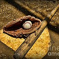 Baseball Home Plate Poster by Paul Ward