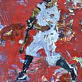 Baseball Painting Print by Robert Joyner