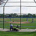 Baseball Playing Hard 3 Panel Composite 01 Poster by Thomas Woolworth