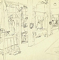 Basic Training Barracks Interior I Fort Jackson 1976 Poster by Jim Vansant