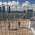 Basketball Court on Cruise Ship Print by Amy Cicconi