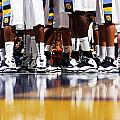 Basketball Court Reflections Print by Replay Photos