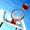 Basketball hoop and ball 1 Poster by Lanjee Chee