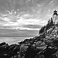 Bass Harbor Lighthouse at Dusk Poster by Diane Diederich