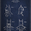 Batman Head Dress Patent Drawing Poster by Aged Pixel