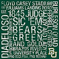 Baylor College Colors Subway Art Poster by Replay Photos