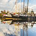 Bayou LaBatre' Shrimp Boat Reflections 35 Print by Jay Blackburn