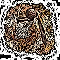 BBall Print by Donna Johnson