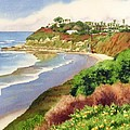 Beach at Swami's Encinitas Poster by Mary Helmreich