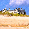 Beach House In the Hamptons Poster by Mark Tisdale